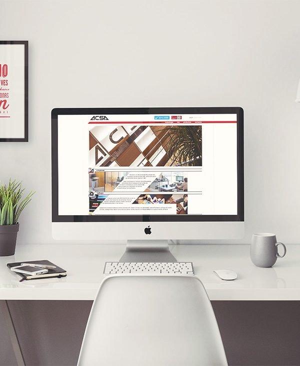 Proyectos diseño web corporativo ACSA
