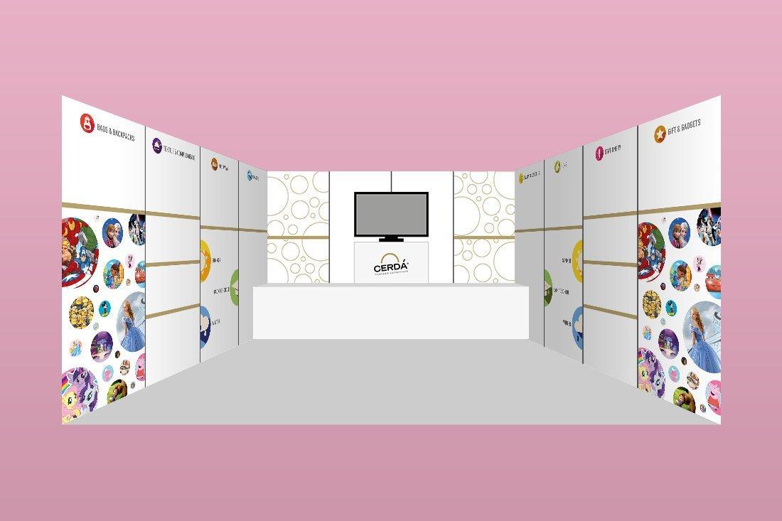 Diseño stand feria Valencia Cerda Group