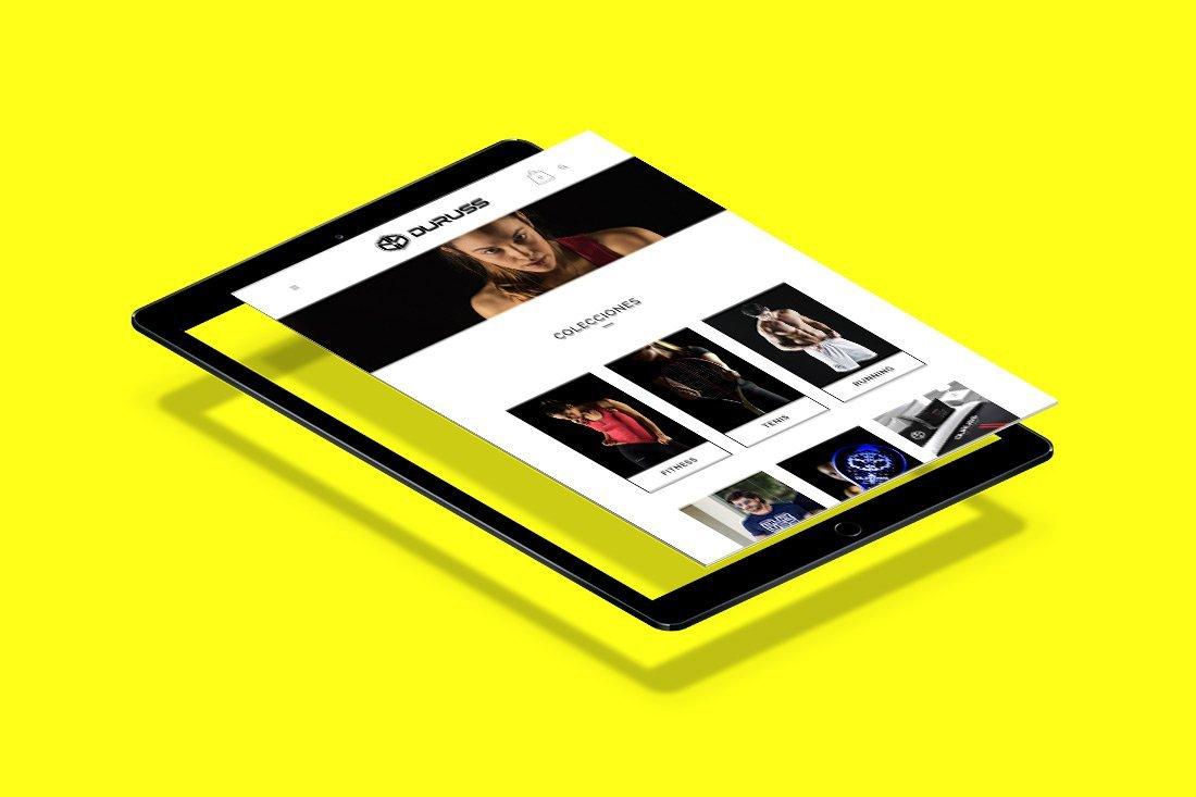Proyectos diseño web padel DURUSS