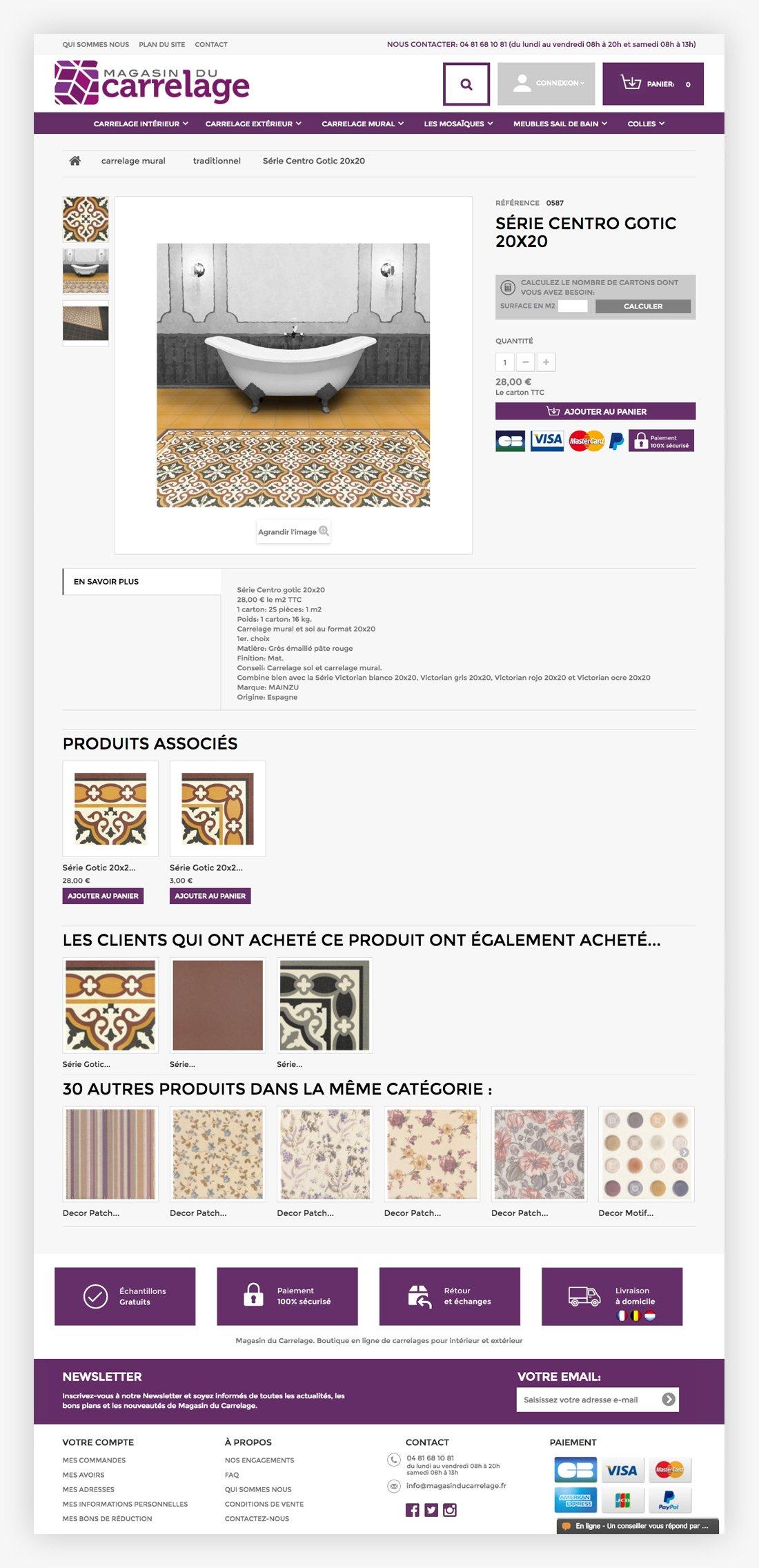 Diseño web Valencia. diseño tienda online Xativa. Magasin Du Carrelage