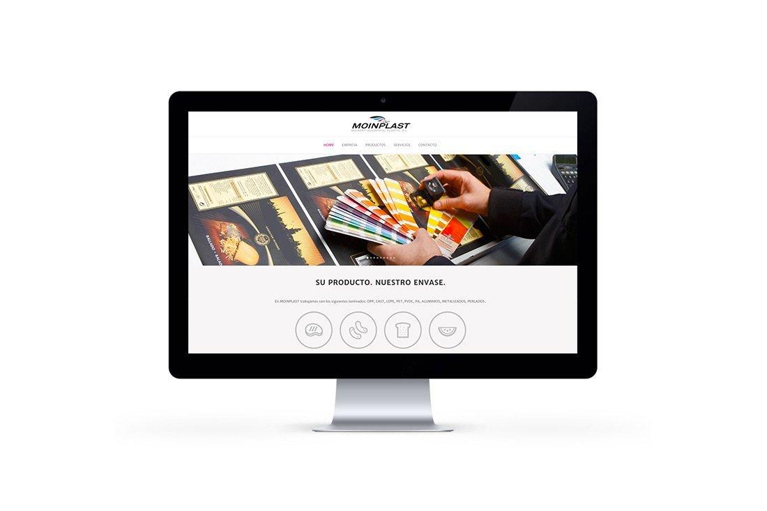 Diseño web responsive Moinplast