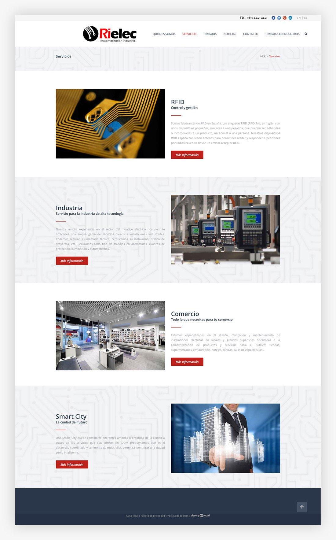 Diseño web Ontinyent. Rielec